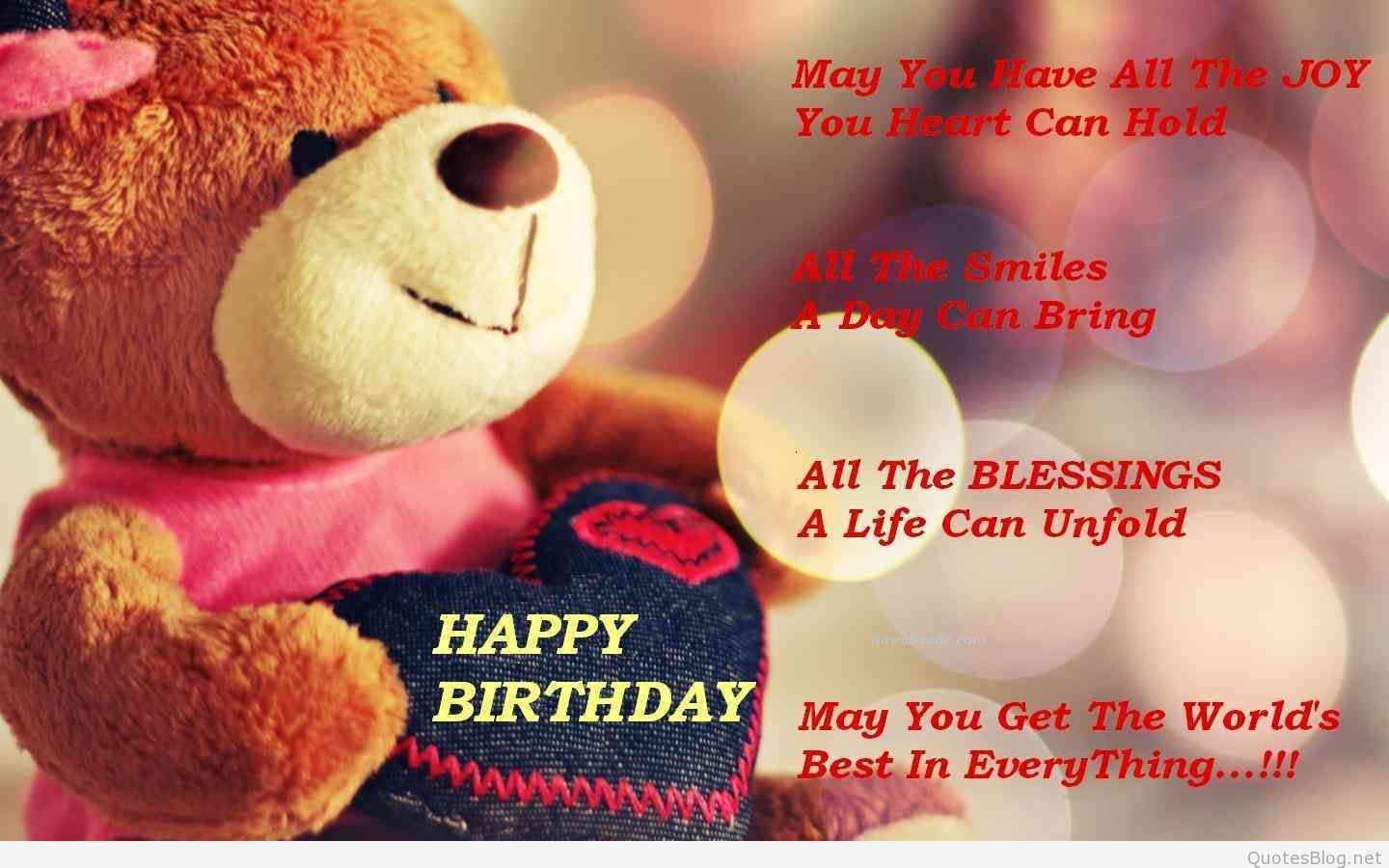 Bithday Whatsapp Dp With Teddy Bear - Birthday Wishes For Best Friend Card , HD Wallpaper & Backgrounds