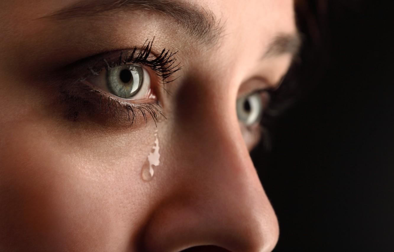 Photo Wallpaper Woman, Eyes, Tears, Crying - Eyes Tears (#380744 ...