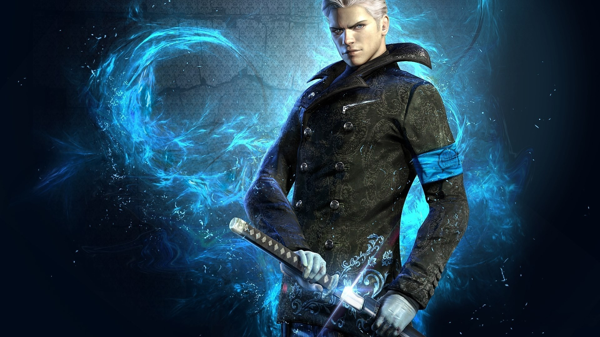 Blue, Blue Eyes, Devil May Cry, Devil May Cry 5, Dmc, - Hd Devil May Cry 5 , HD Wallpaper & Backgrounds