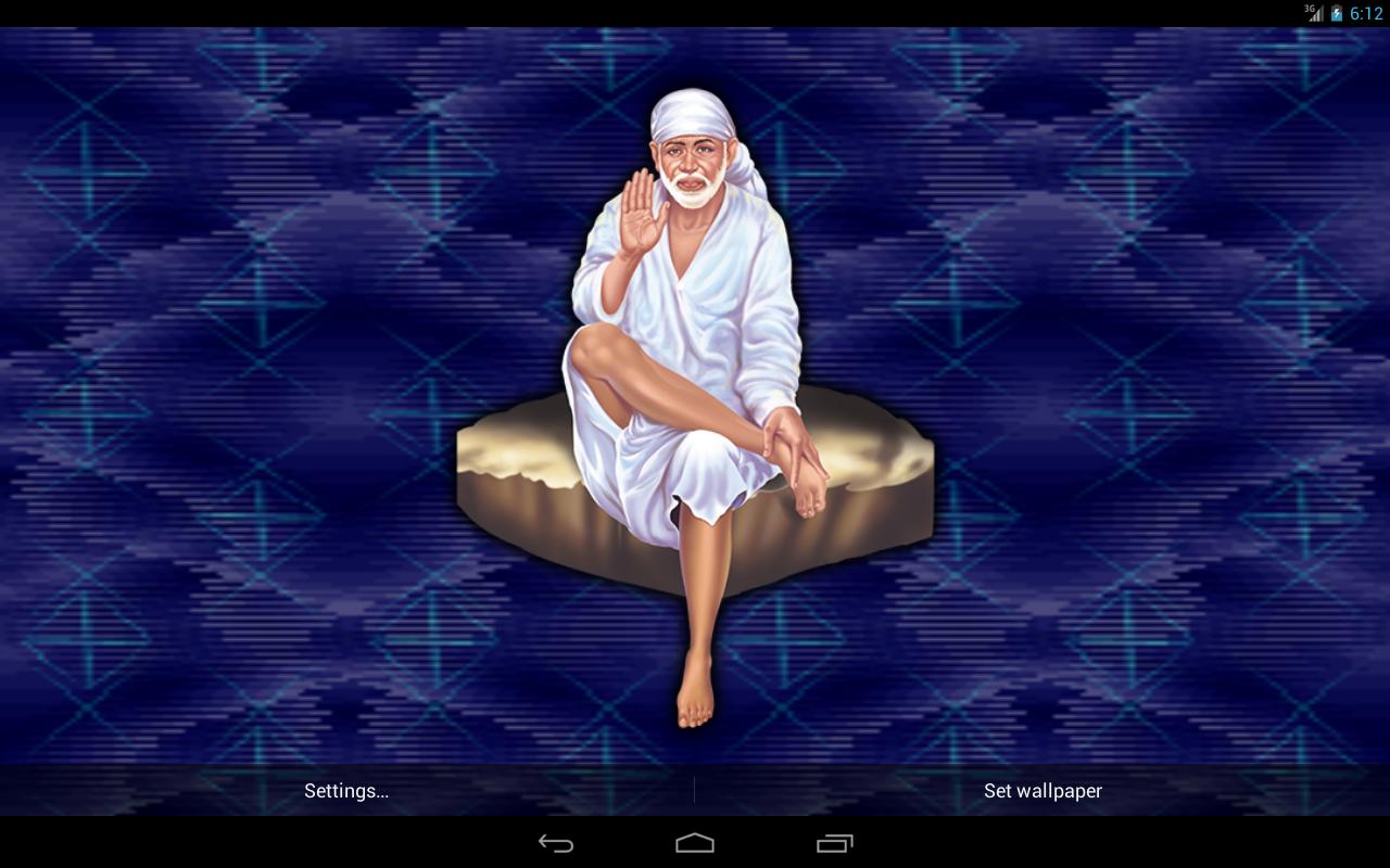 Sai Baba Live Wallpaper - Sai Baba Live Wallpaper 3d , HD Wallpaper & Backgrounds