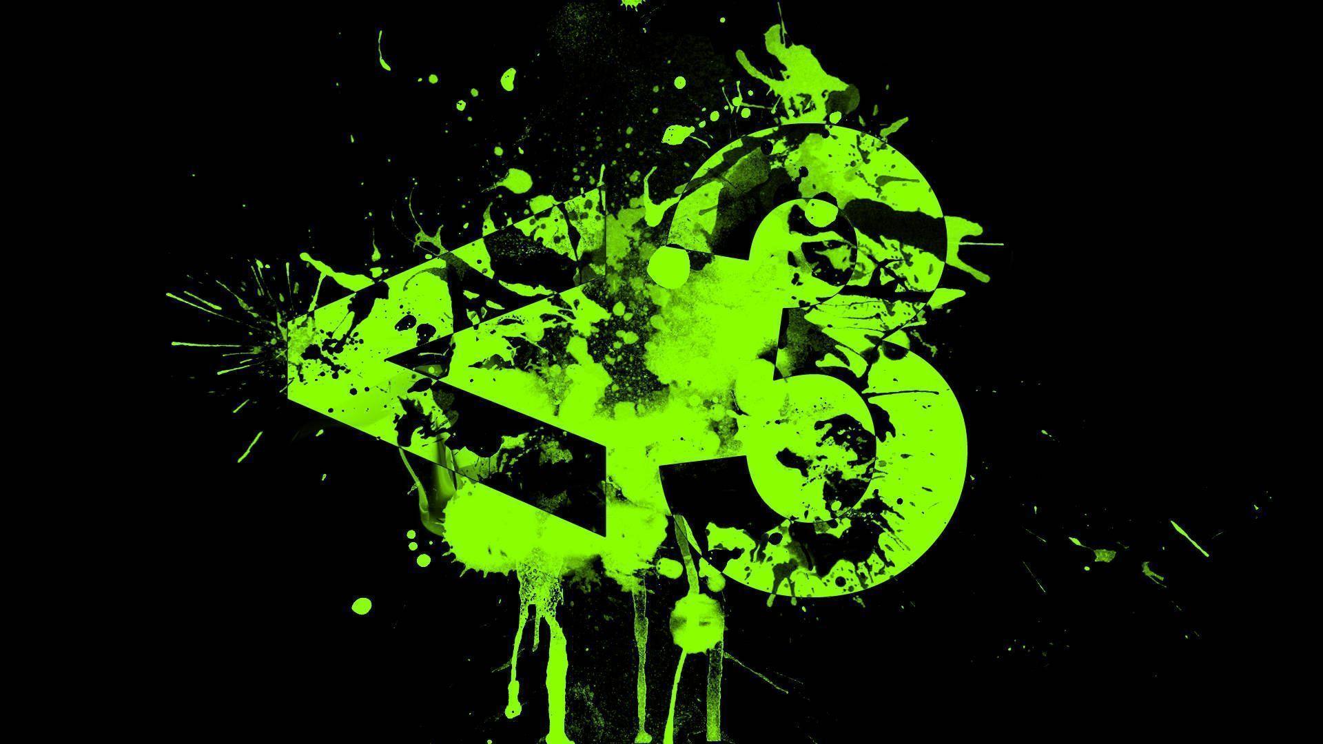 Black And Green Abstract Full Hd Wallpaper Wallpaper 384568