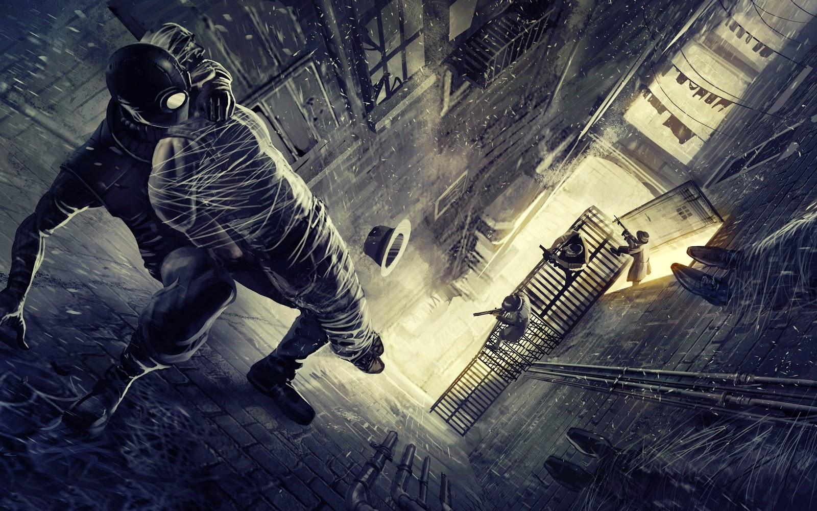 Download Wallpaper 3d Widescreen - Spider Man Shattered Dimensions , HD Wallpaper & Backgrounds