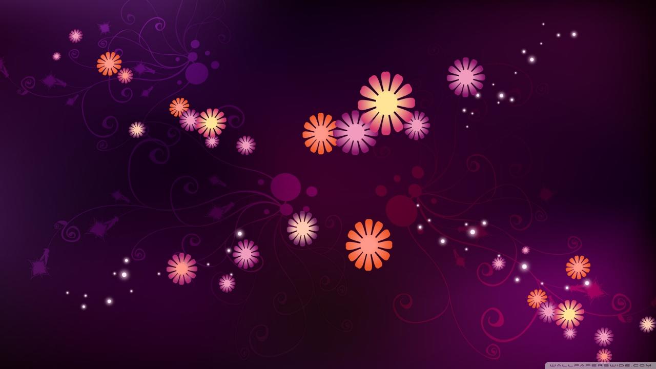 Abstract Flowers Design Hd Widescreen Desktop Wallpaper - Abstract Flowers Wallpaper Hd , HD Wallpaper & Backgrounds