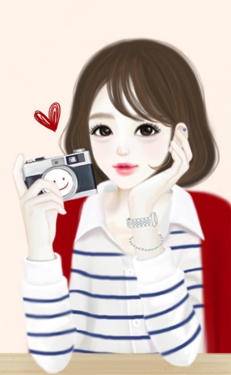 Wallpaper Kartun Korea Terkeren Draw Korean Anime Girl