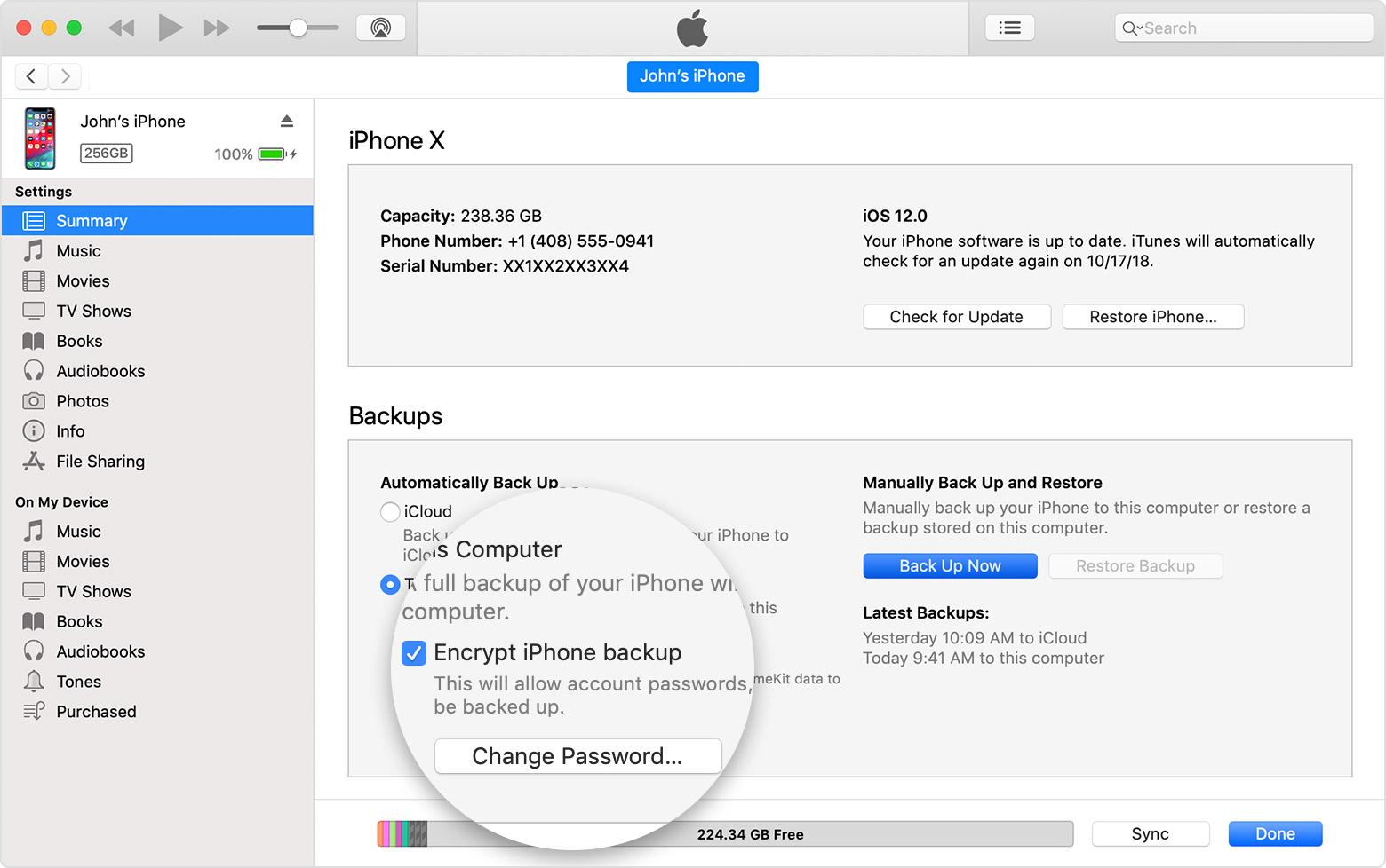The Summary Screen In Itunes Restore Iphone In Dfu