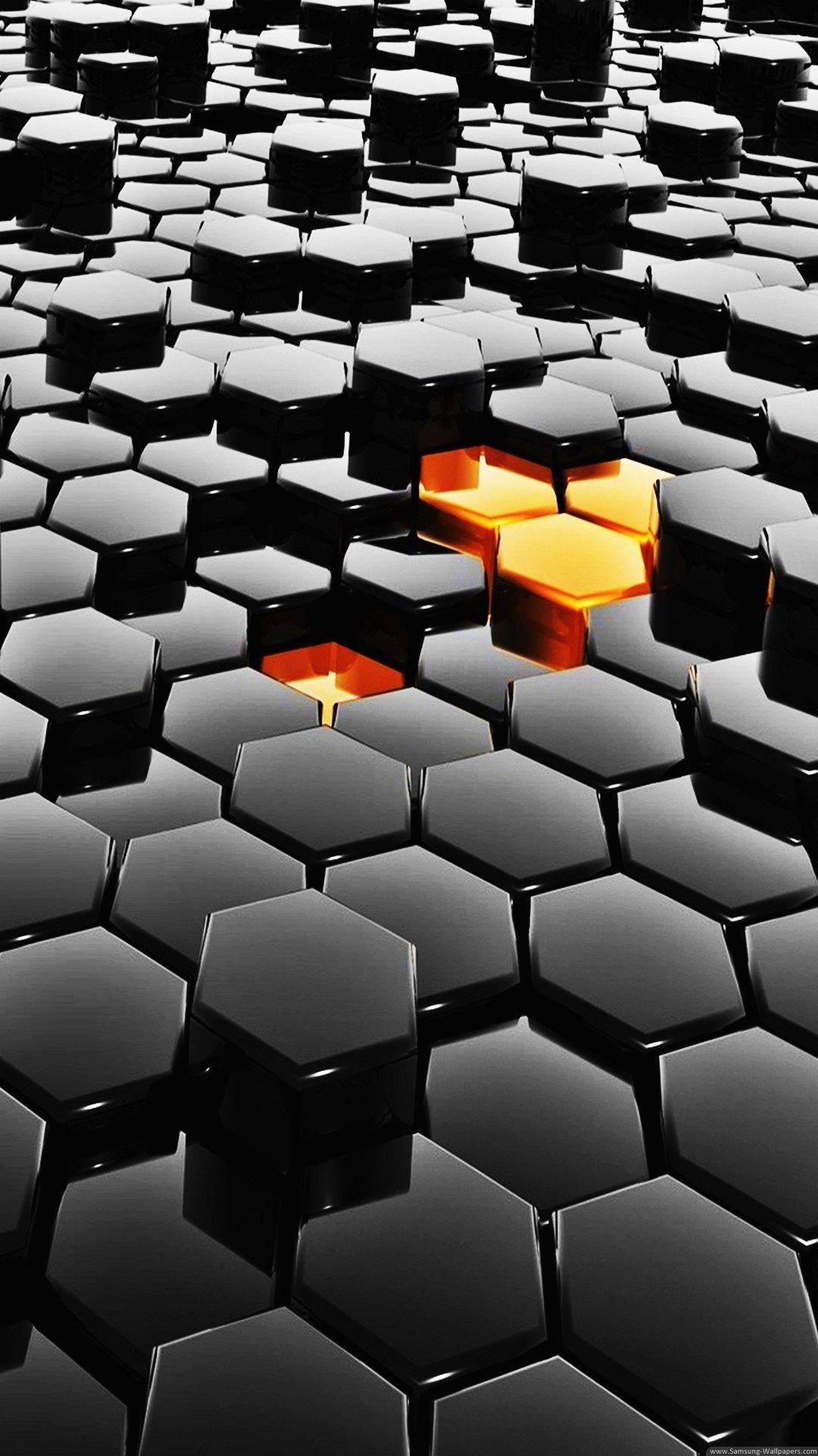 3d Wallpaper Hd For Android Iphone 3d Hexagon