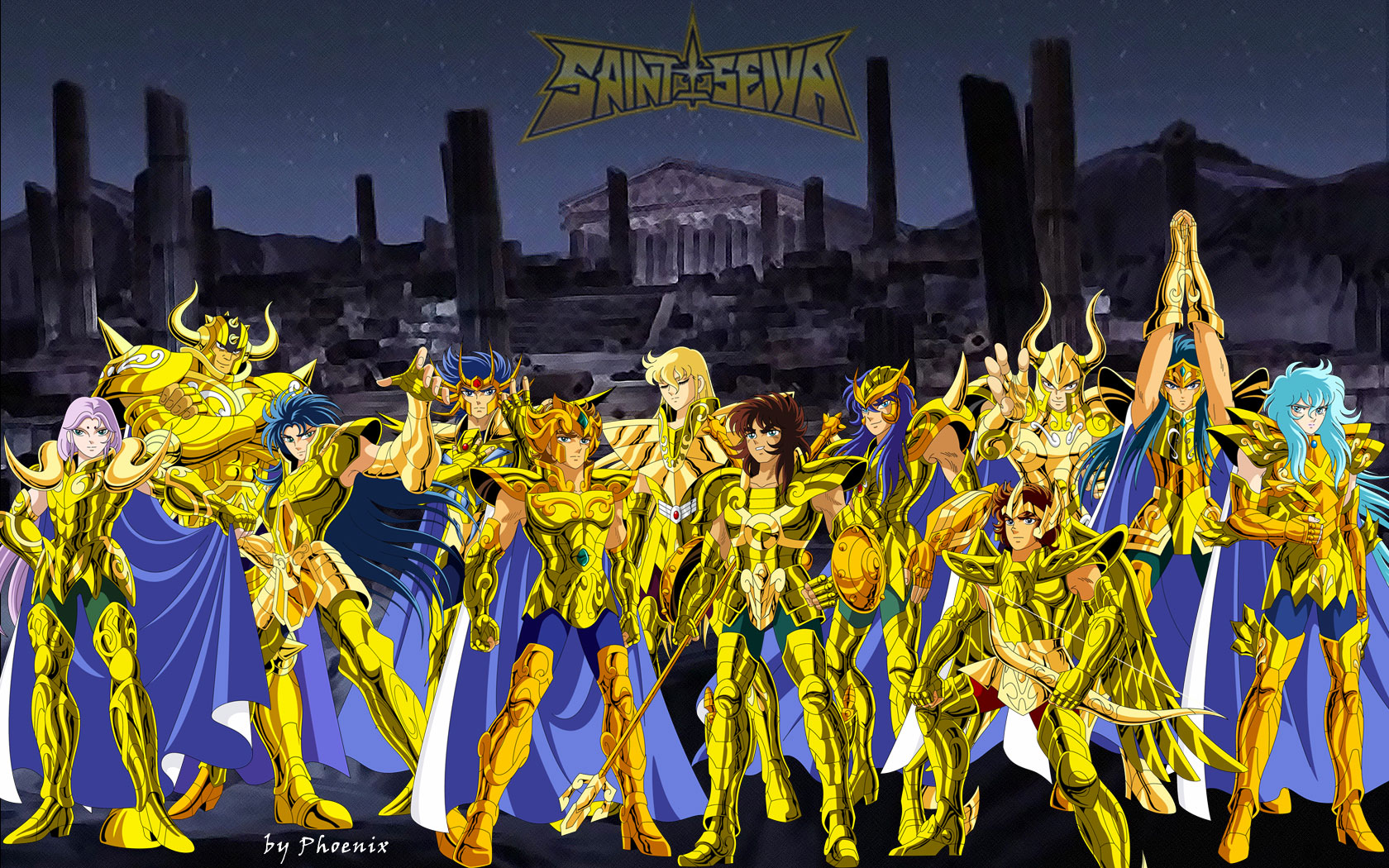 High Resolution Great Anime Saint Seiya Gold Wallpaper 392391