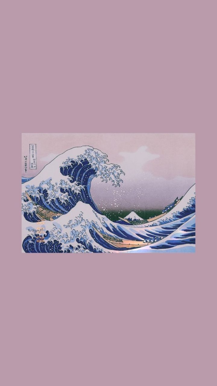Another One Great Wave Art Hoe Aesthetic Iphone Wallpaper - Iphone Artsy Aesthetic Background , HD Wallpaper & Backgrounds