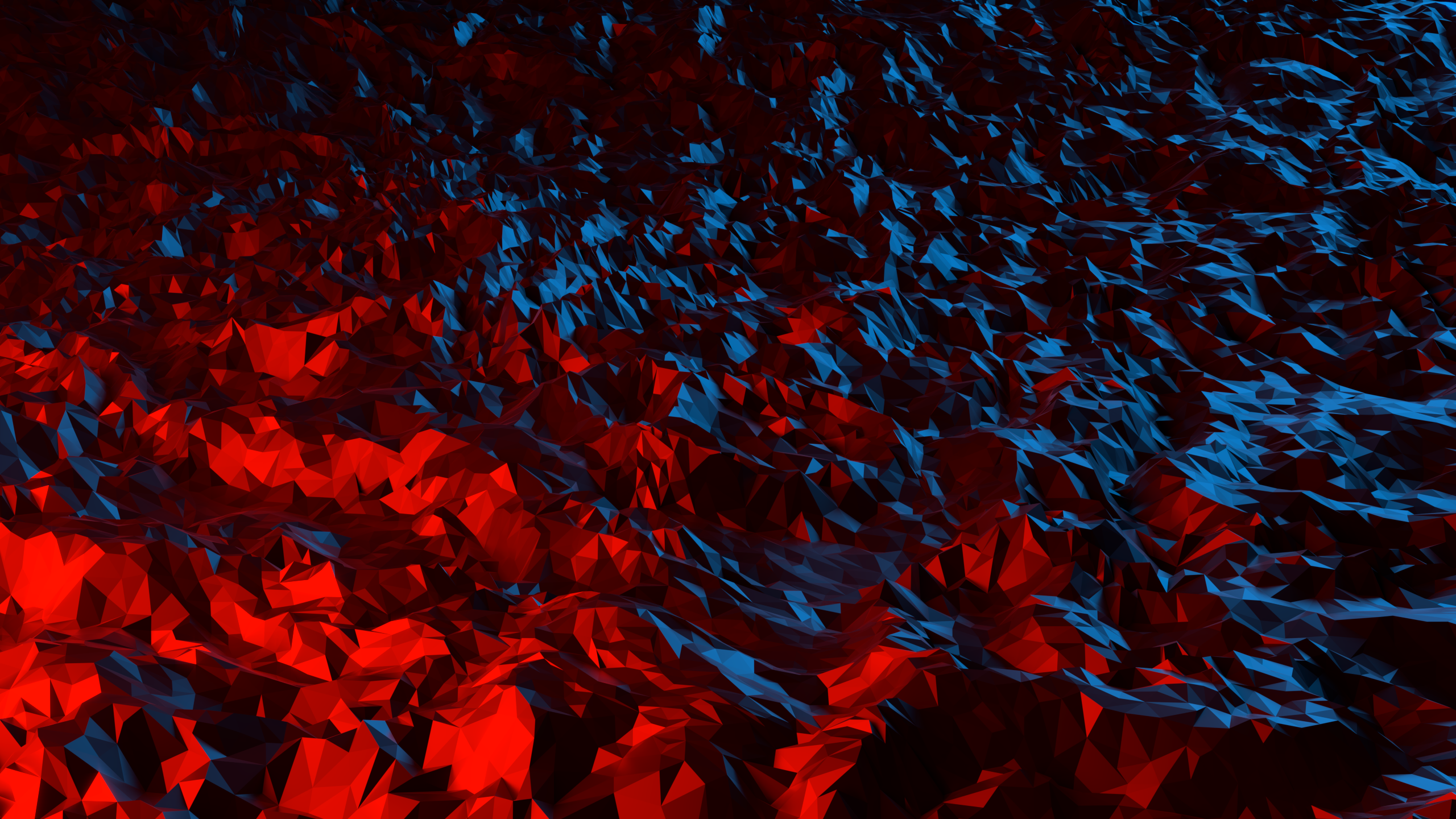 Triangle Low Poly Red Abstract Geometry 3d