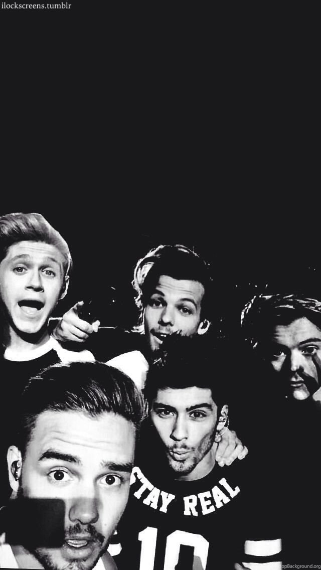Lock Screen Wallpaper Tumblr - One Direction Black And White , HD Wallpaper & Backgrounds