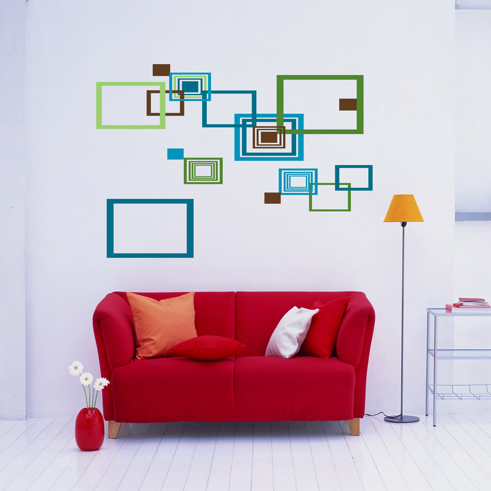 Diy Simple Geometric Radius Wall Art Sticke Stickers ...