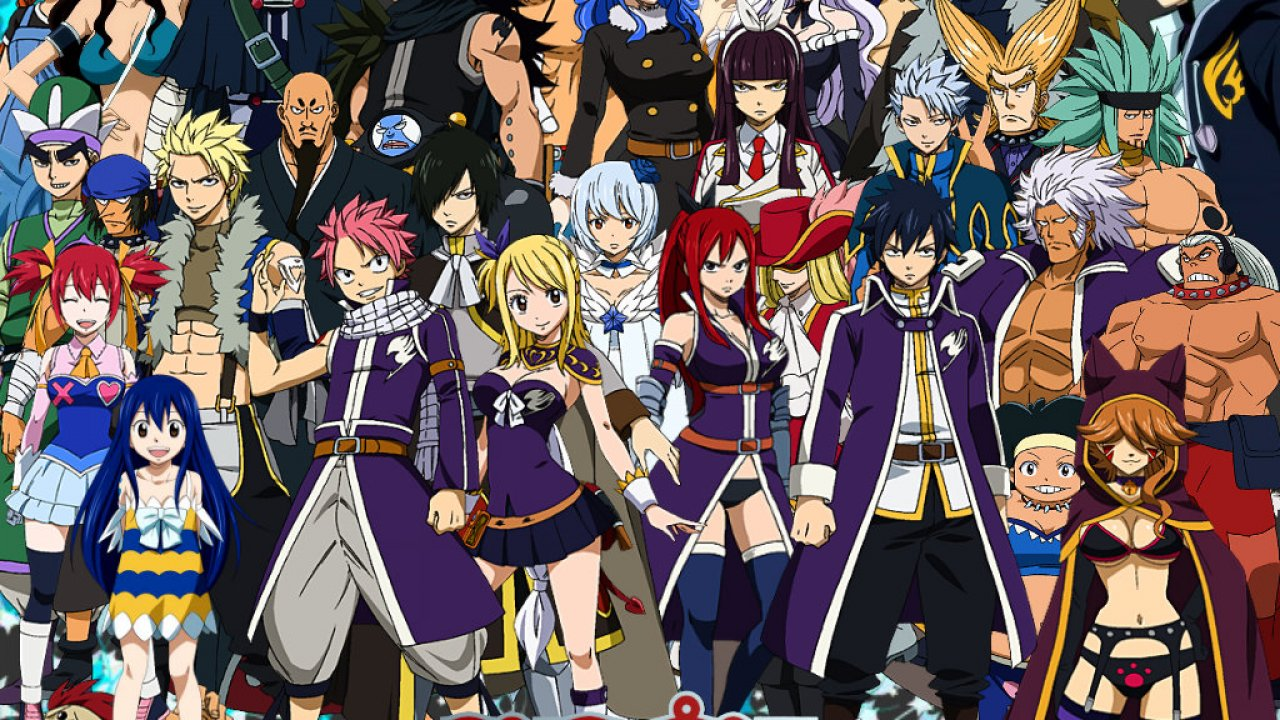 All Charaters In Fairy Tail Wallpaper Hd Wallpaper Fairy