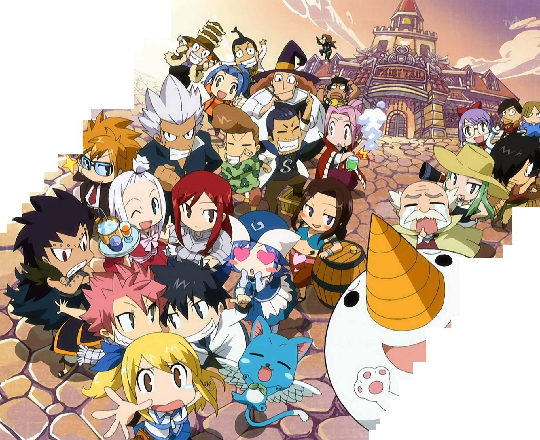 Best Of Adorable Fairy Tail Anime - Fairy Tail Wallpaper Chibi , HD Wallpaper & Backgrounds
