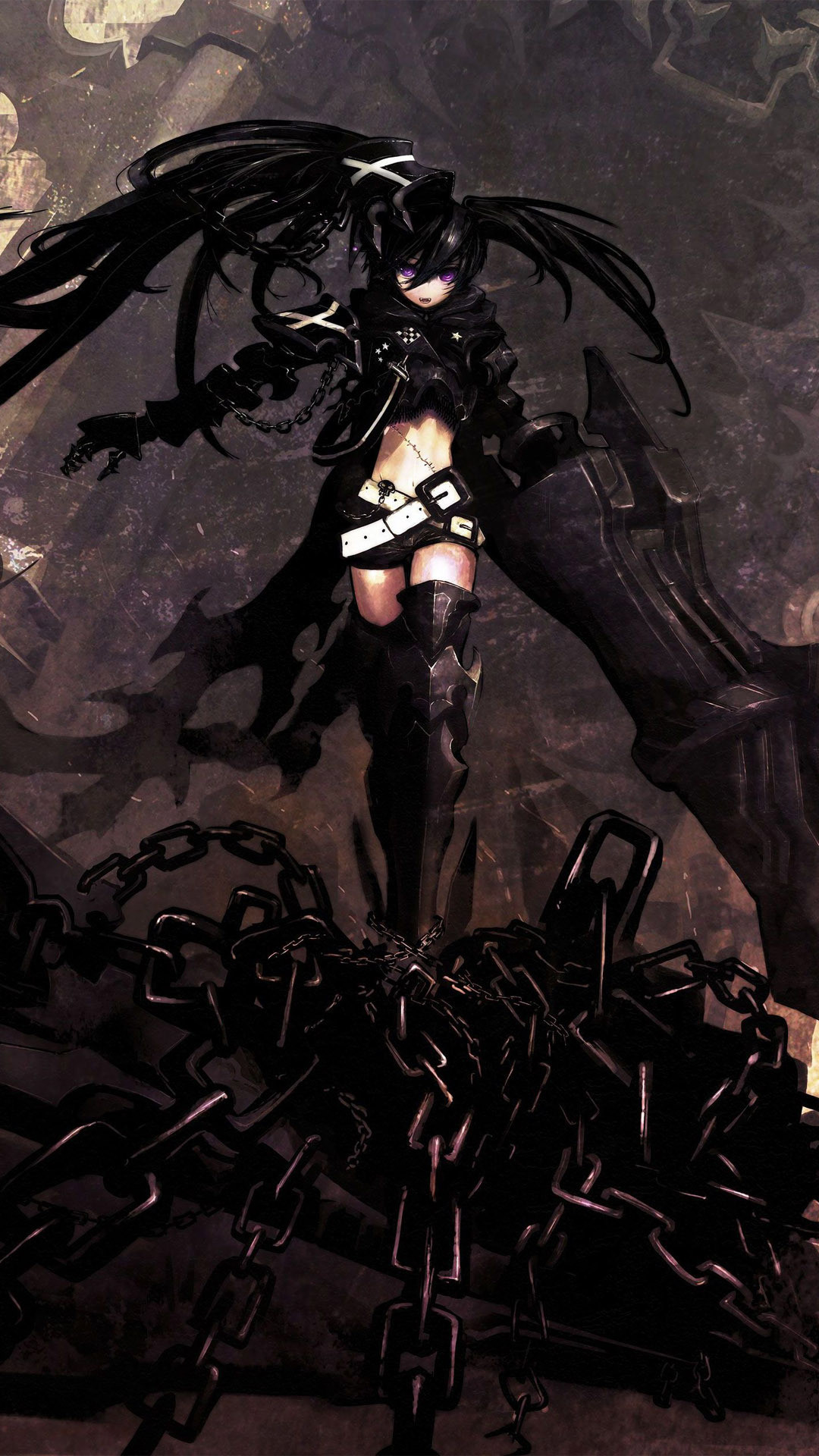 Anime • 76 Downloads Black Rock Shooter  - Girl Anime Wallpaper Handy , HD Wallpaper & Backgrounds