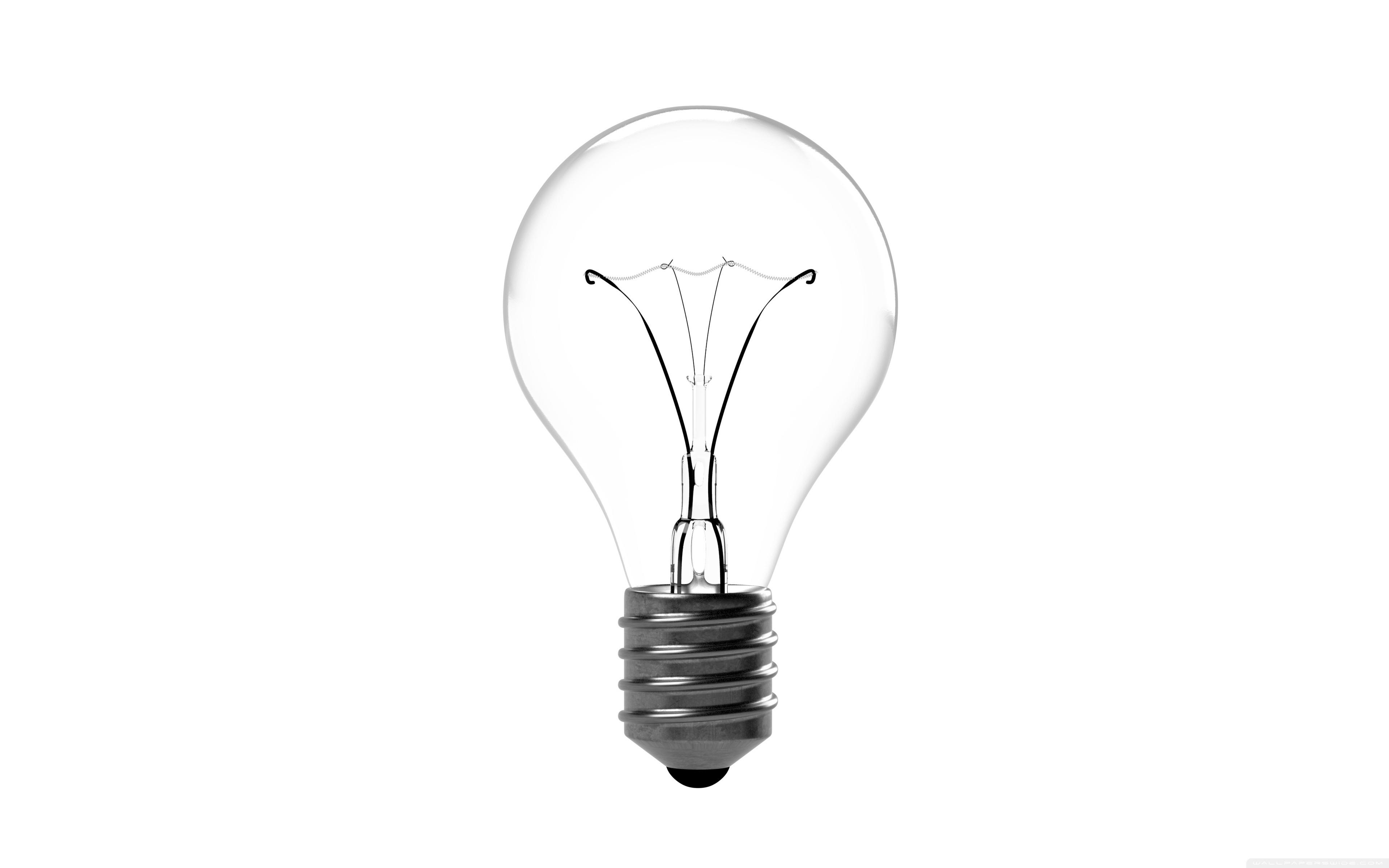 â White Hd Desktop Wallpapers For 4k Ultra Hd Light Bulb