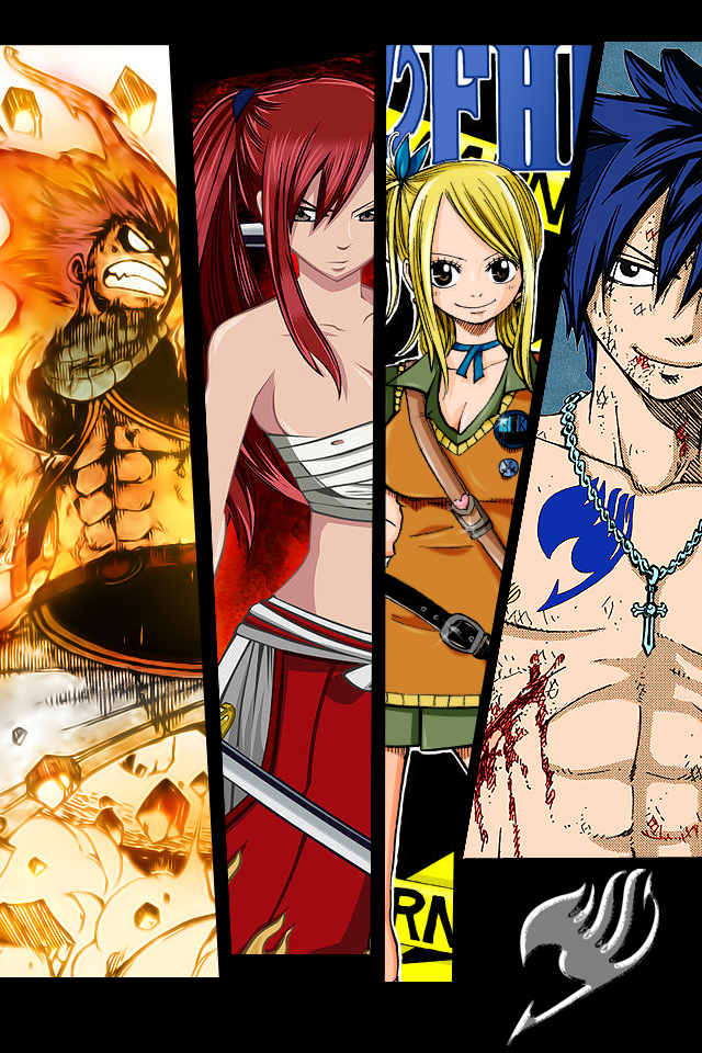 Best Fairy Tail Wallpaper - Fairy Tail Iphone Backgrounds , HD Wallpaper & Backgrounds
