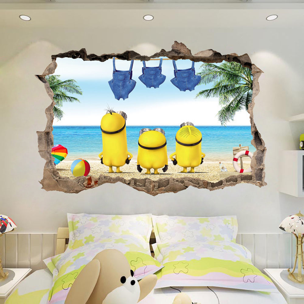 Wallpaper Dinding Minion Super Wings Wall Stickers