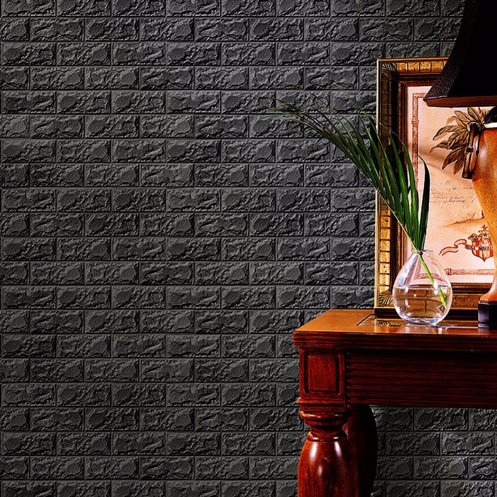 Sticker Wallpaper Dinding 3d Embosed Model Bata 60x30cm