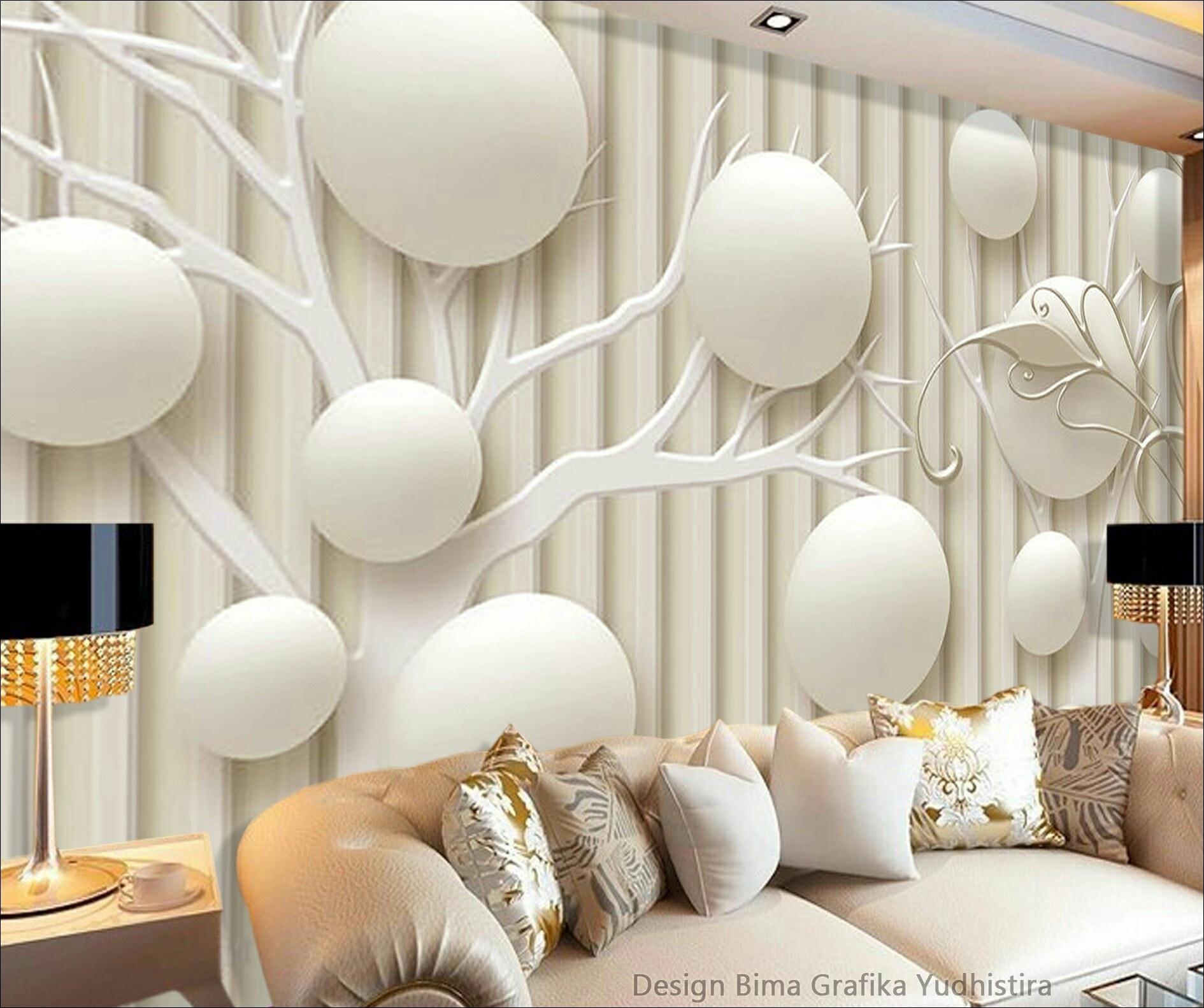 Wallpaper Dinding Hitam Putih Keren Terindah Untuk - Wall Paper Dinding 3d , HD Wallpaper & Backgrounds