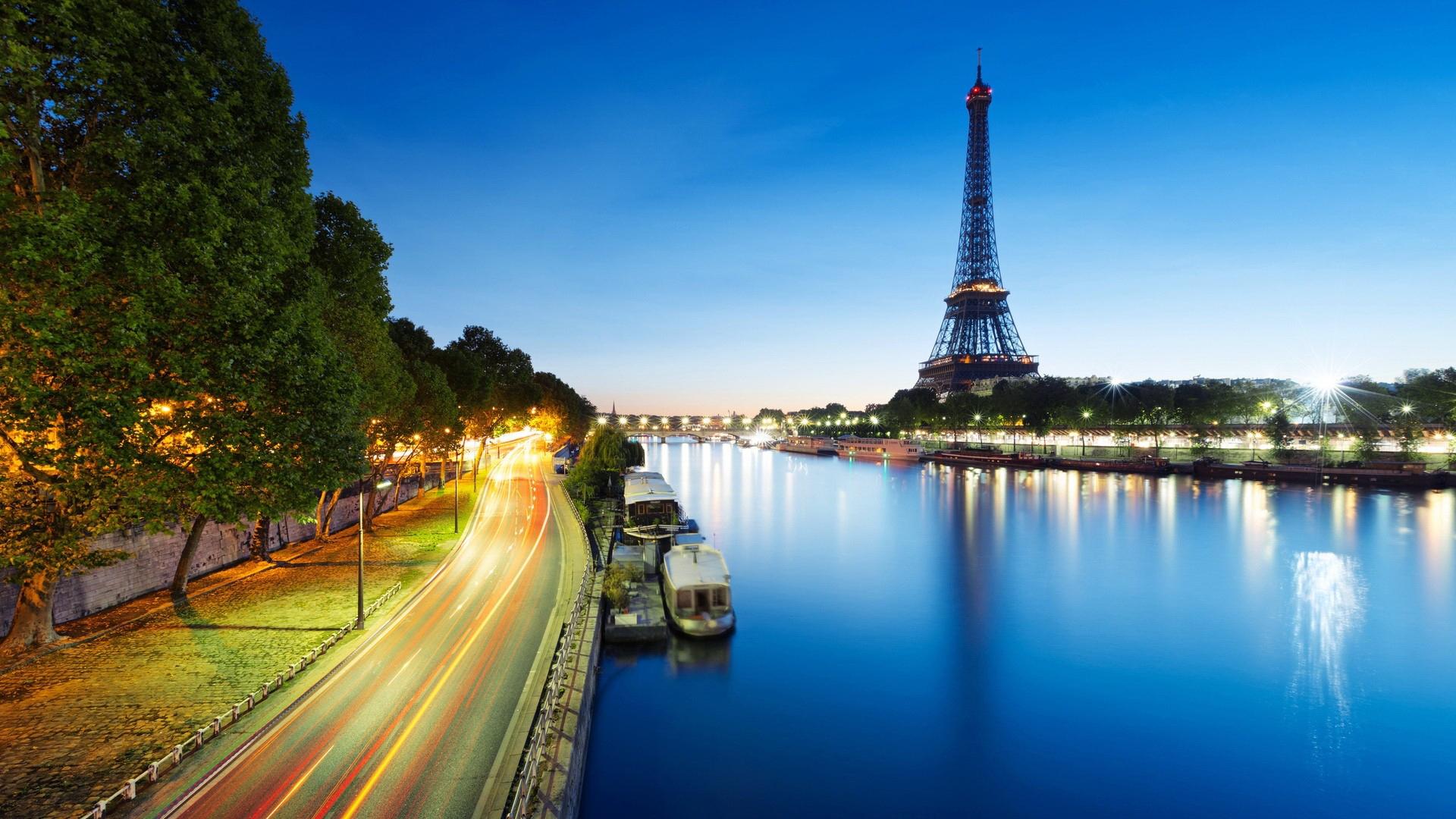 Sunset Eiffel Tower Wallpaper Hd
