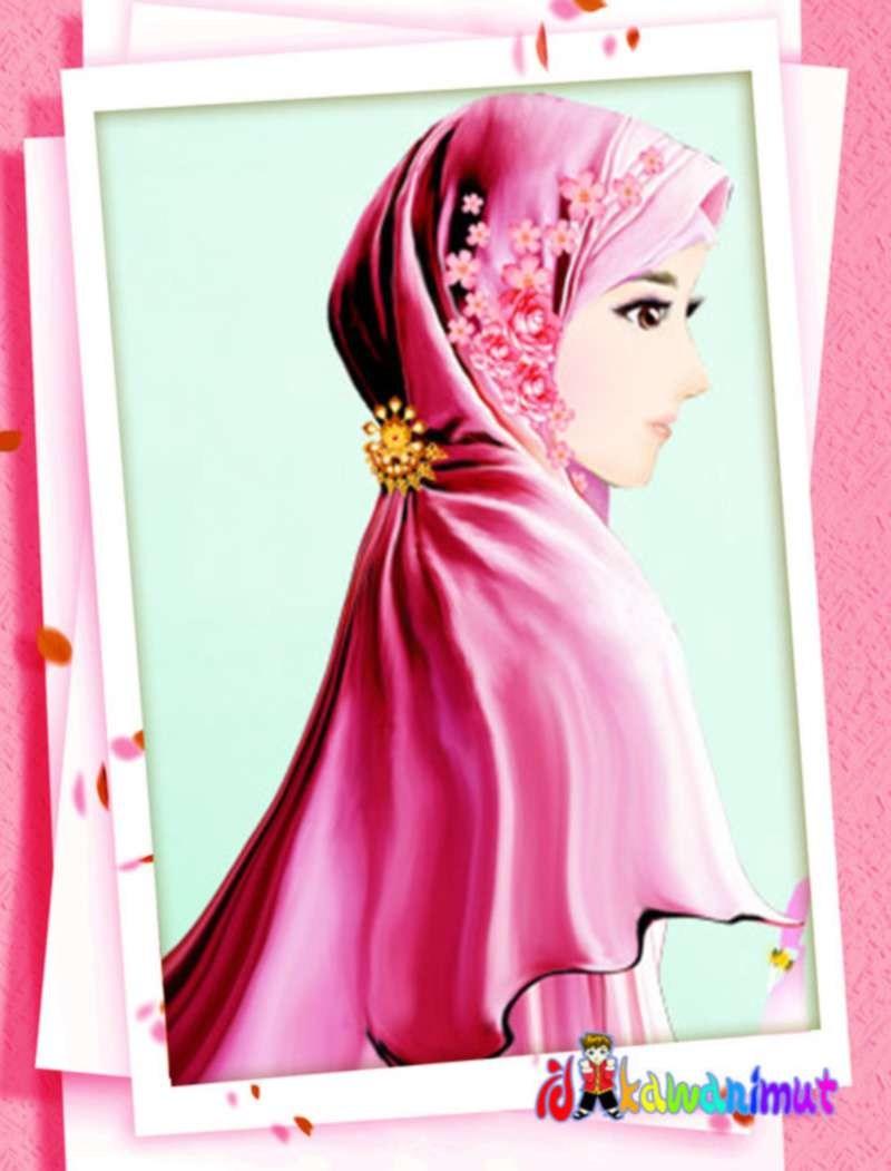 Wallpaper Perempuan Cantik Kartun Muslimah 46458 Hd