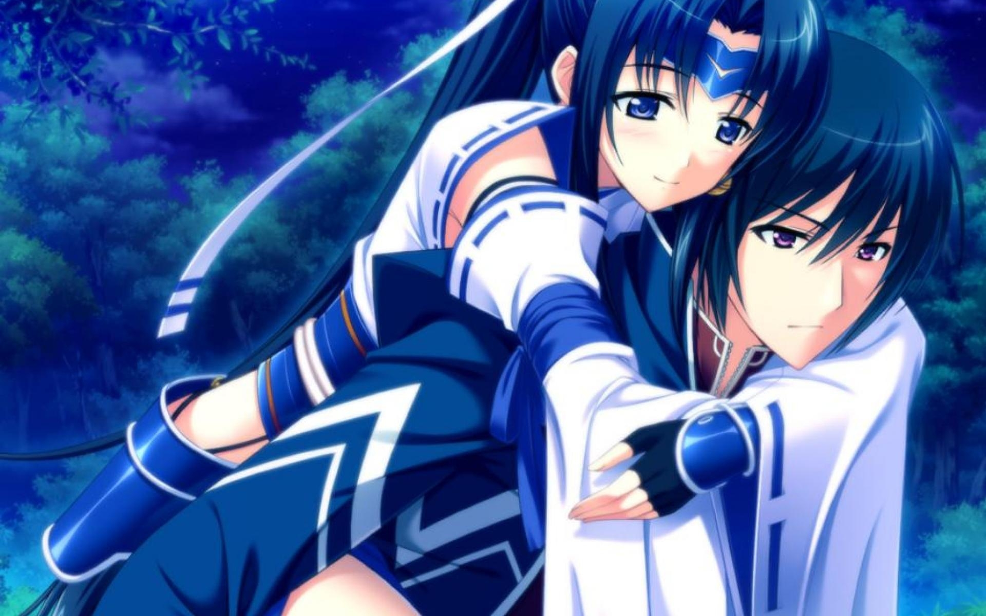 Sweet Anime Couple Hd Wallpaper M9themes Gambar Hd Anime