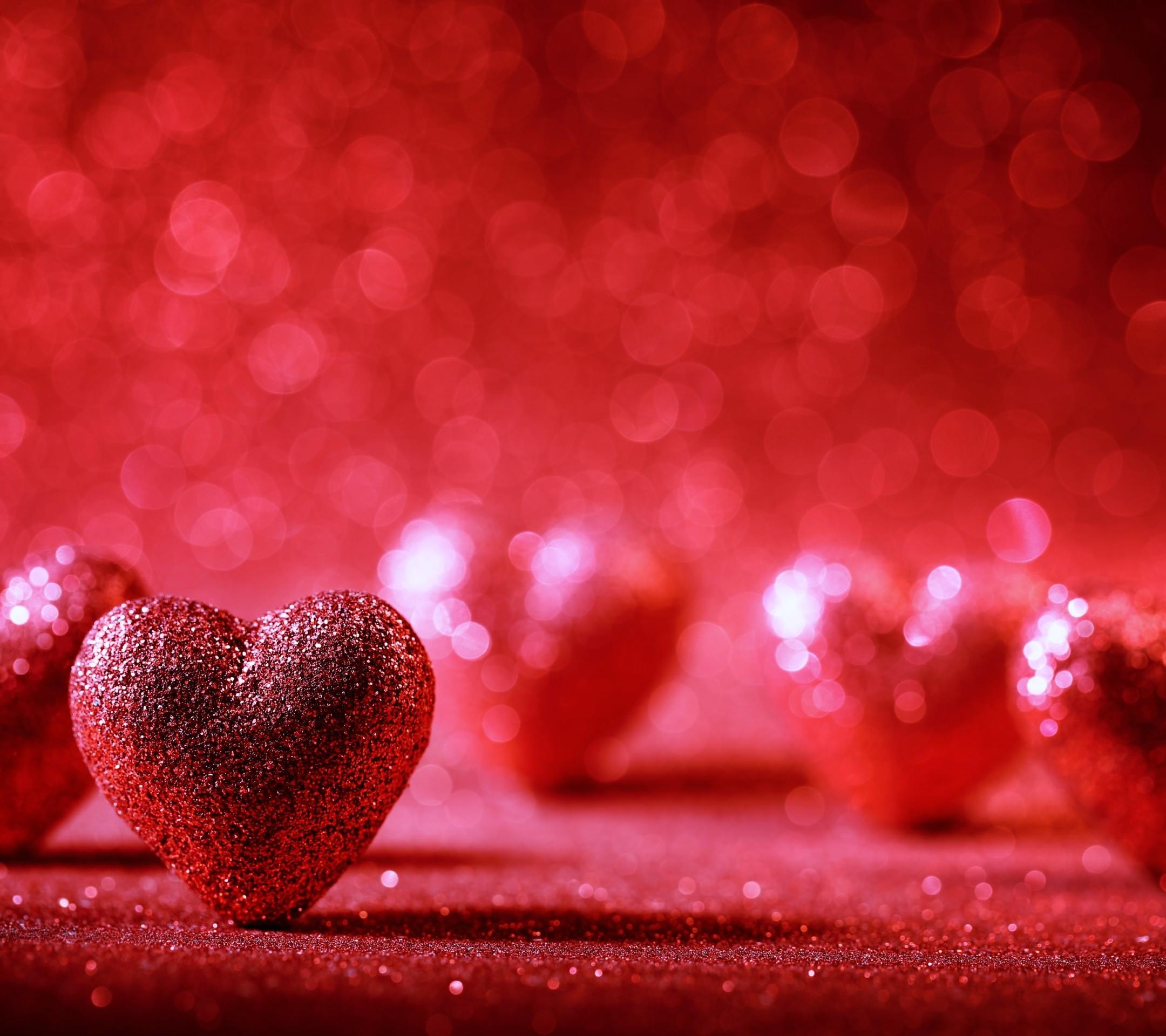 Red Heart Shape Tree Landscape Love Wallpaper Love Red