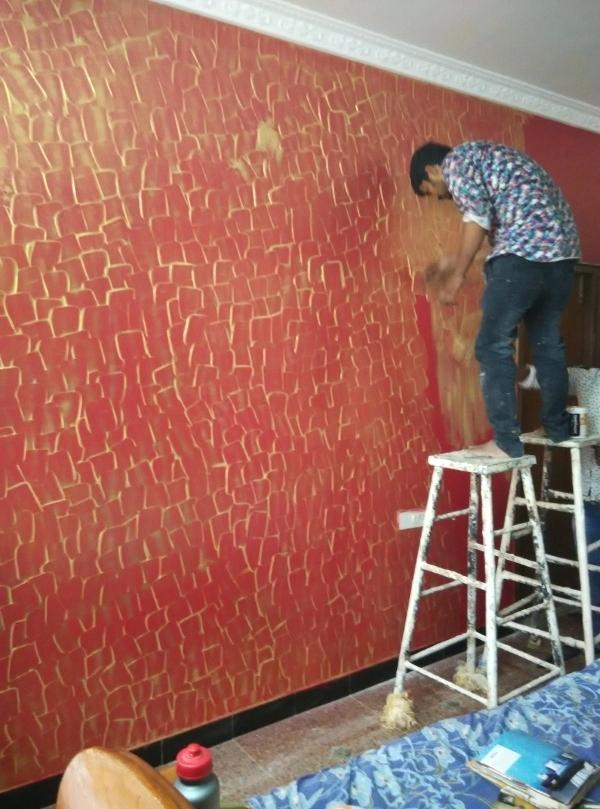Wall Texture Design Asian Paints Colours Combinations - Texture Wall Paint Design , HD Wallpaper & Backgrounds