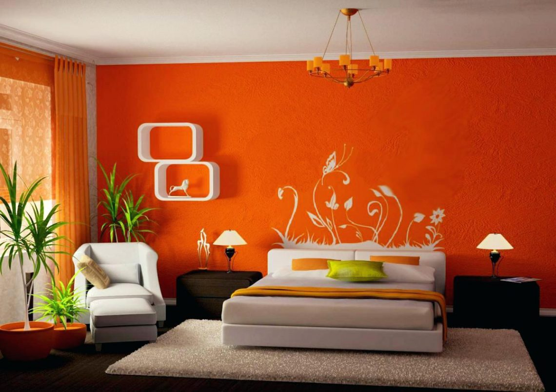 Asian Paints Wall Designs Bedroom Design With Paint - Two Colour Combination For Bedroom Walls , HD Wallpaper & Backgrounds