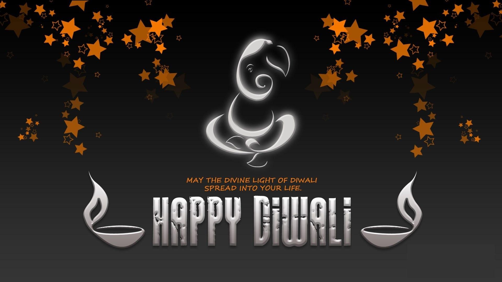 Happy Diwali Wallpaper Hd Widescreen - Happy Diwali Black Background , HD Wallpaper & Backgrounds