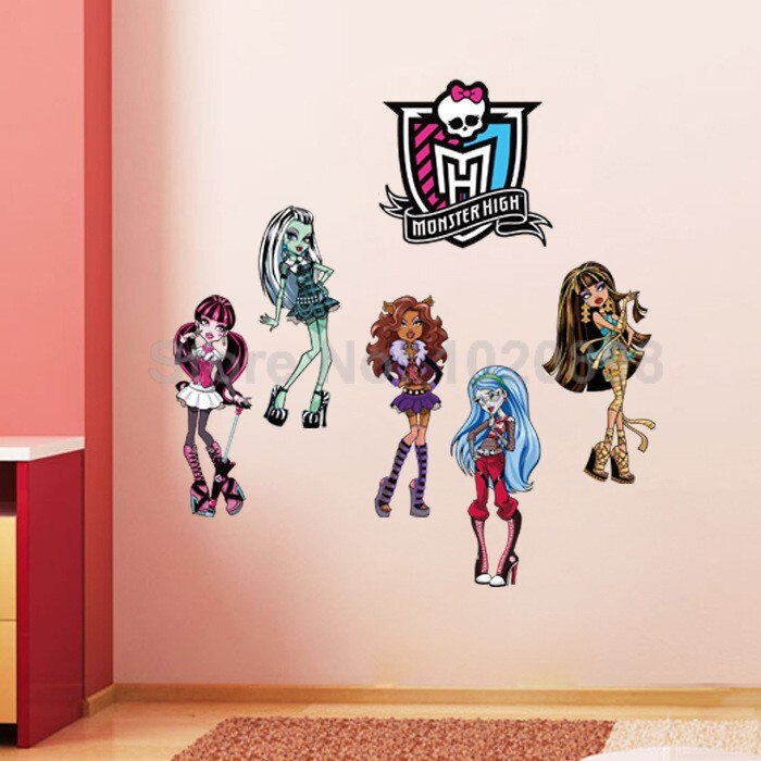 Monster High Wall Stickers For Kids Rooms Home Decor - Monster High Wall Sticker , HD Wallpaper & Backgrounds