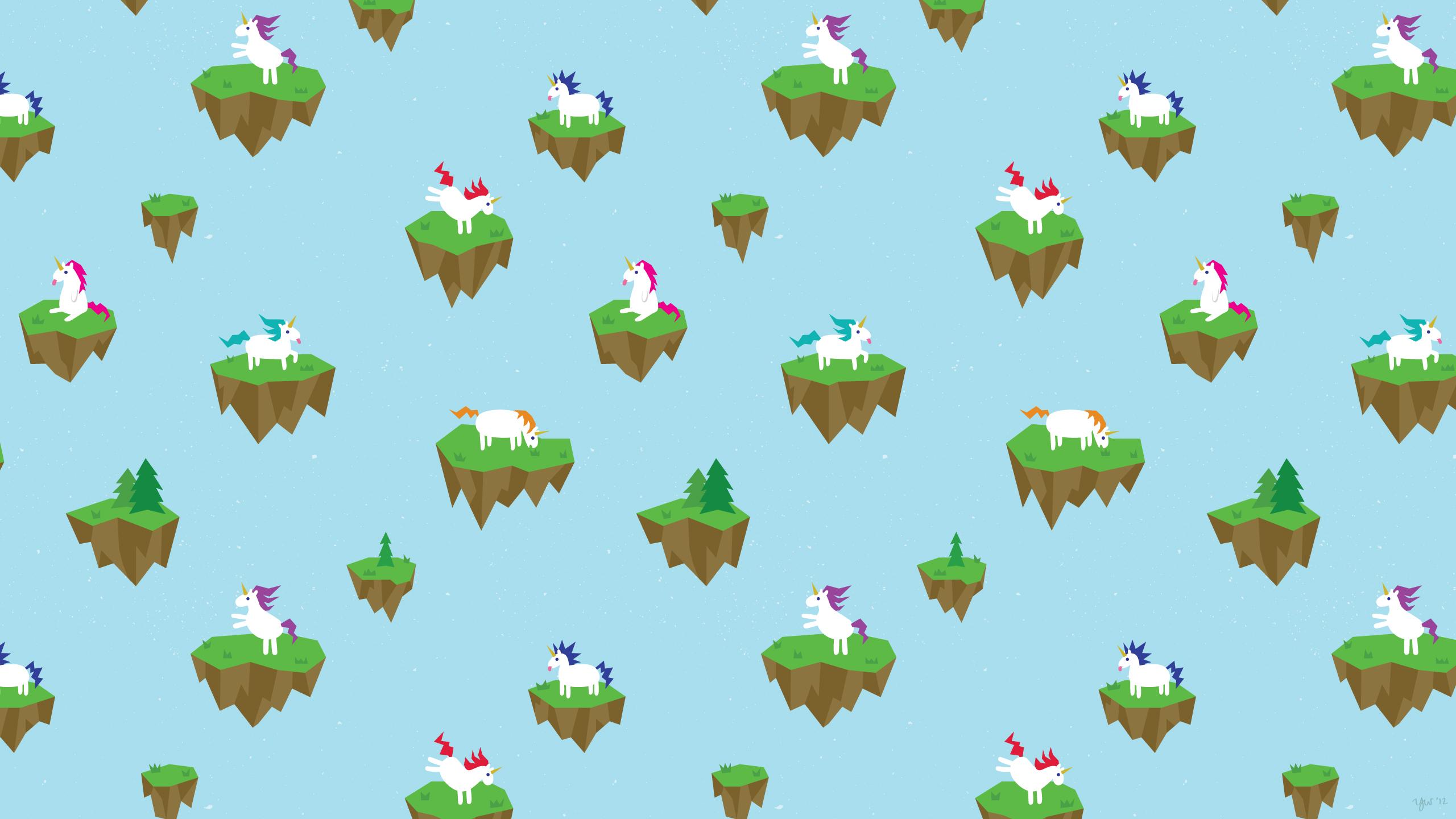 Yvonneweng Unicornislands Unicorns - 2560 X 1440 Unicorn , HD Wallpaper & Backgrounds