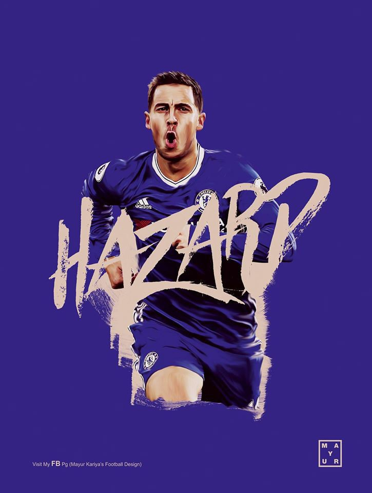 Hazard Chelsea F C On Behance Chelsea Fc Wallpaper