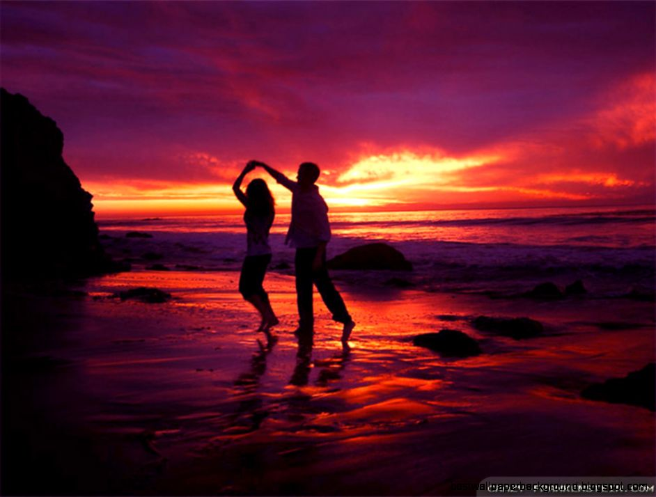 View Original Size - Romantic Dance On Beach , HD Wallpaper & Backgrounds