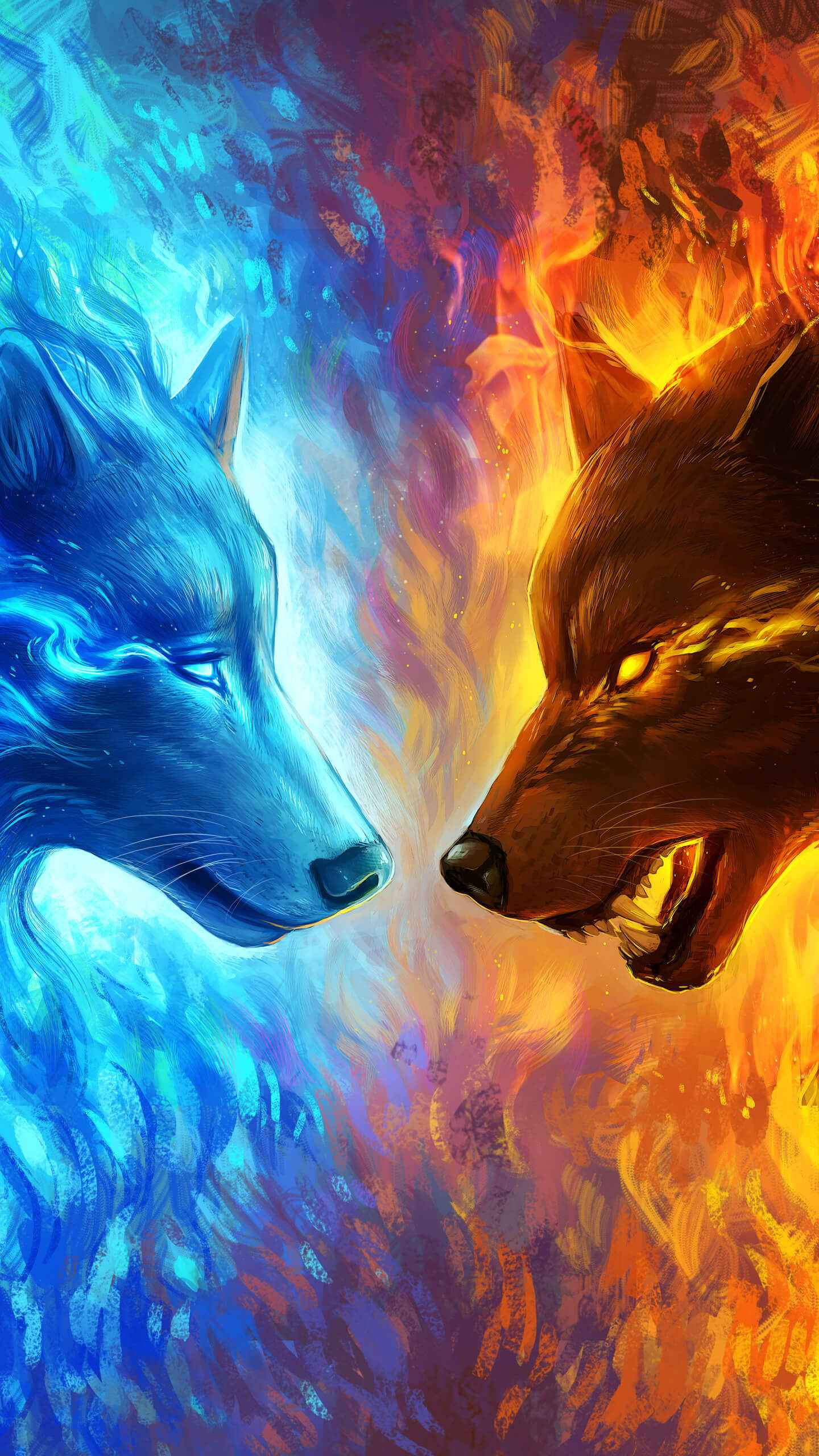 Alpha Luna Wolf 414662 Hd Wallpaper Backgrounds Download