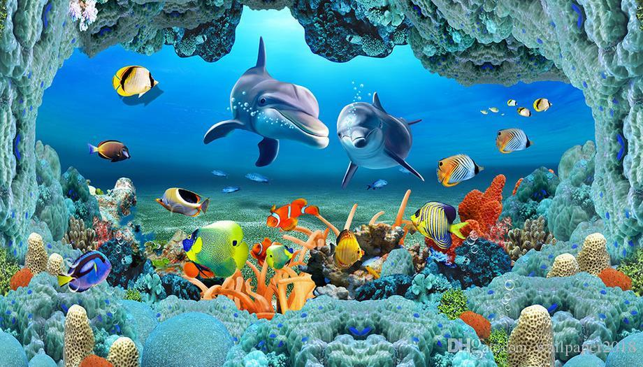 41 416018 wallpaper for walls 3d sea world underwater caves