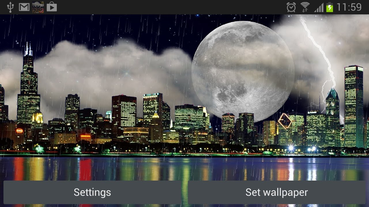 The Real Thunderstorm Hd - Full Moon , HD Wallpaper & Backgrounds