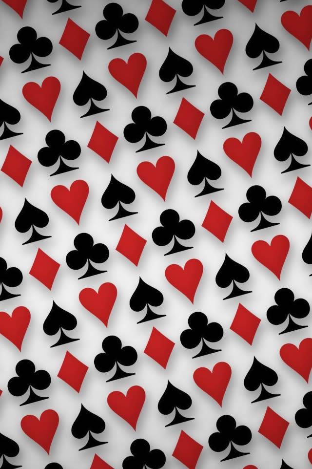 Playing Cards Symbols Digital Art Iphone 4s Wallpaper