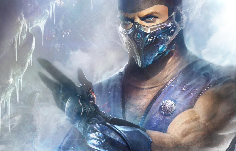 Photo Wallpaper Ice, Mortal Kombat, Ninja, Sub-zero - Sub Zero Fan Art , HD Wallpaper & Backgrounds