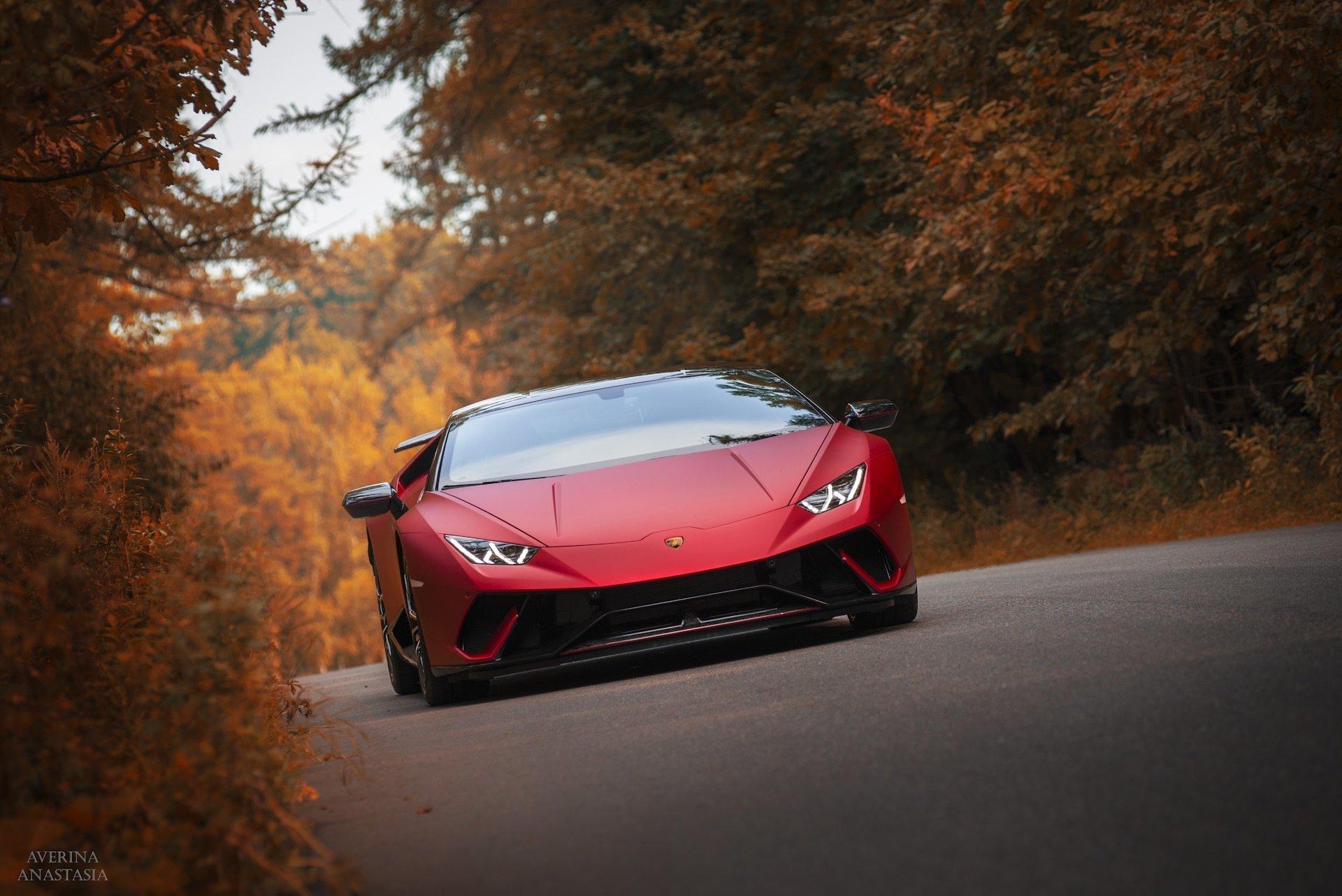 Wallpaper Of Lamborghini Huracan Red Sportcar Supercar