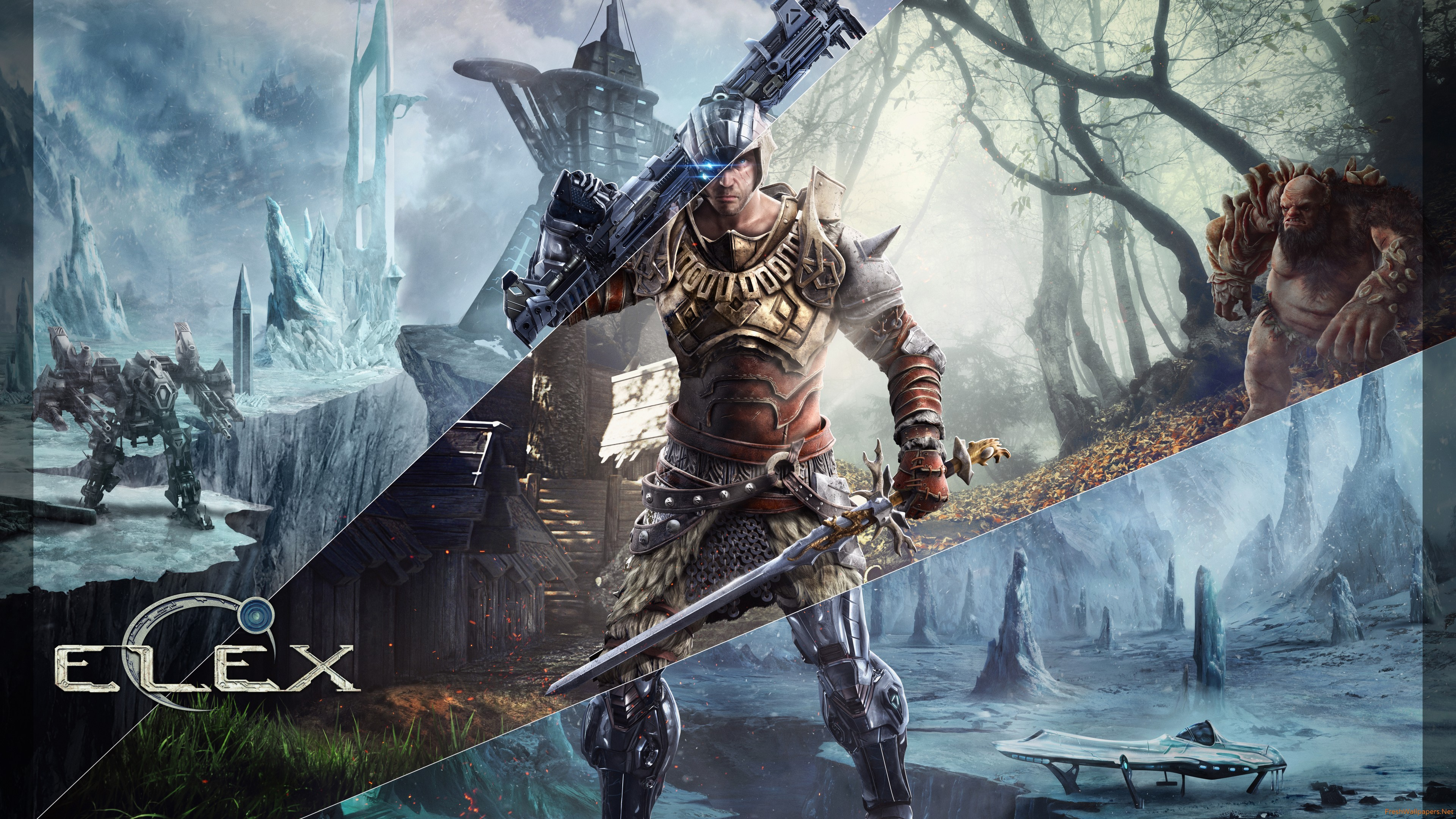 Hd 16 - - Sword And Gun Warrior , HD Wallpaper & Backgrounds
