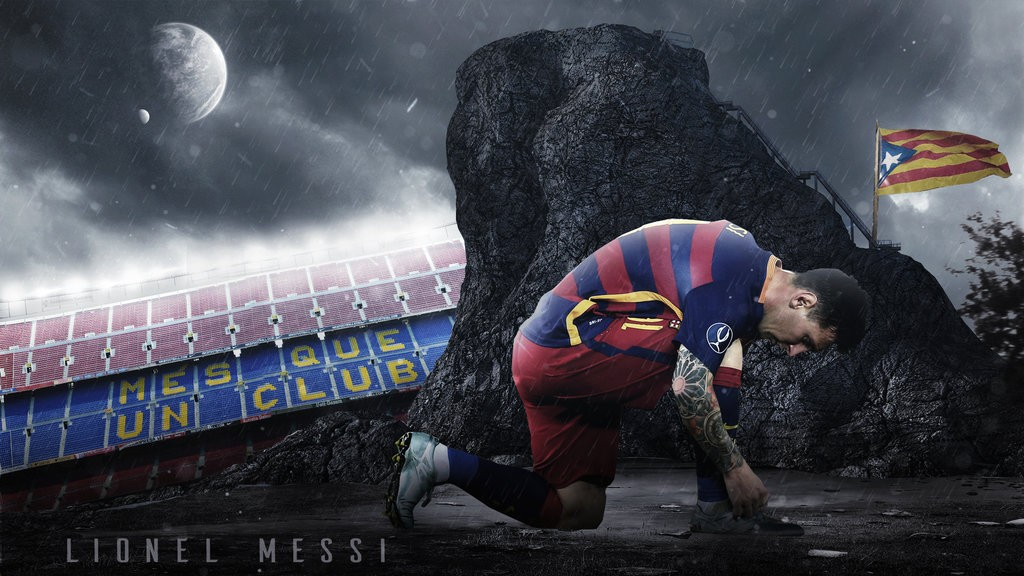 Great Lionel Messi Latest Wallpapers 2015 Fc Barcelona - Lionel Messi 2015 16 , HD Wallpaper & Backgrounds
