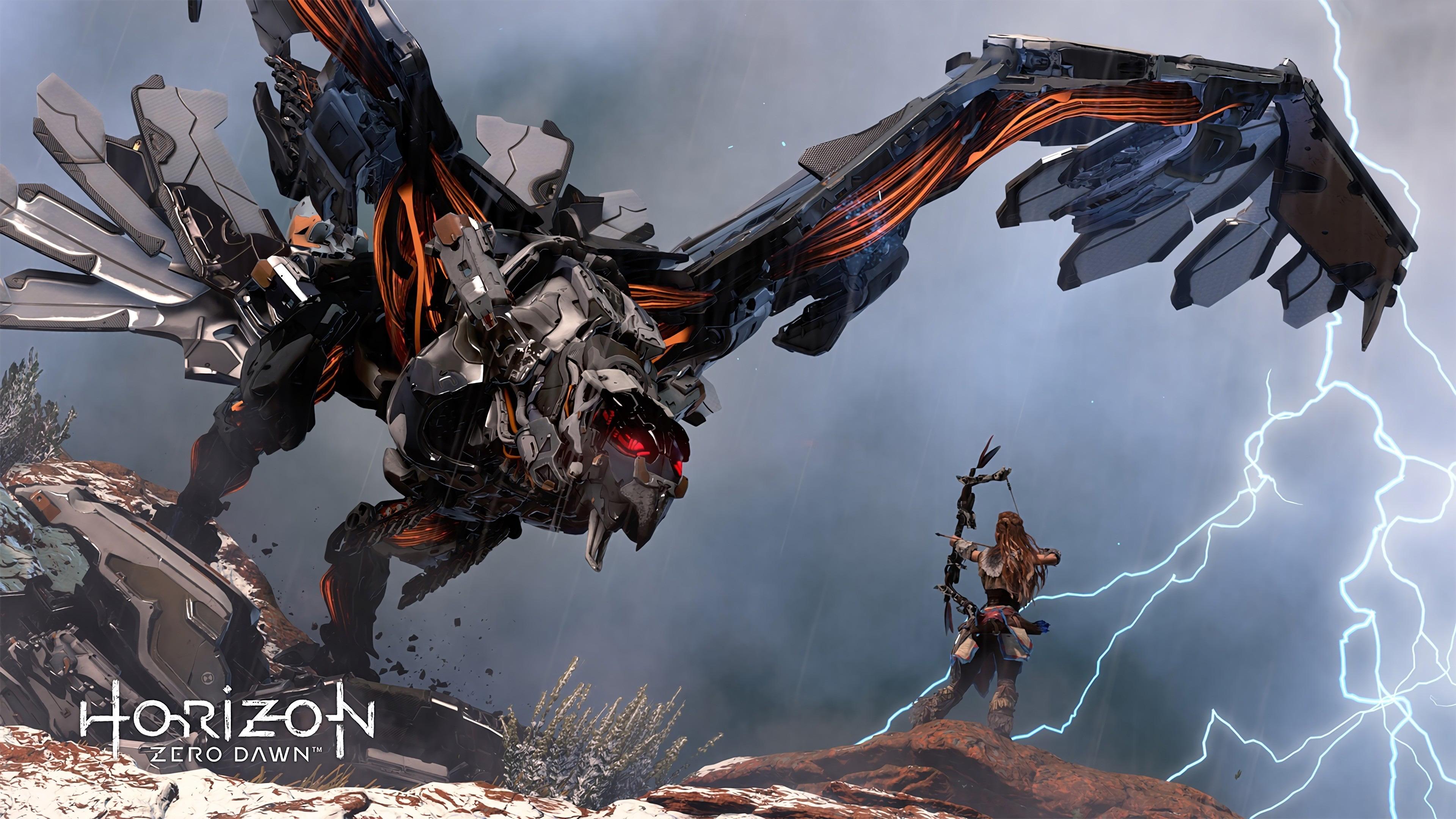 Horizon Zero Dawn 4k - Video Game Wallpaper 4k , HD Wallpaper & Backgrounds