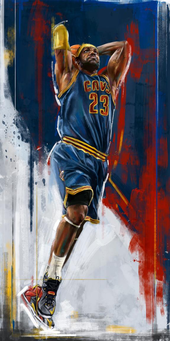 Lebron James 'nba Playoffs' Painting - Lebron James Iphone Wallpaper Cavs , HD Wallpaper & Backgrounds