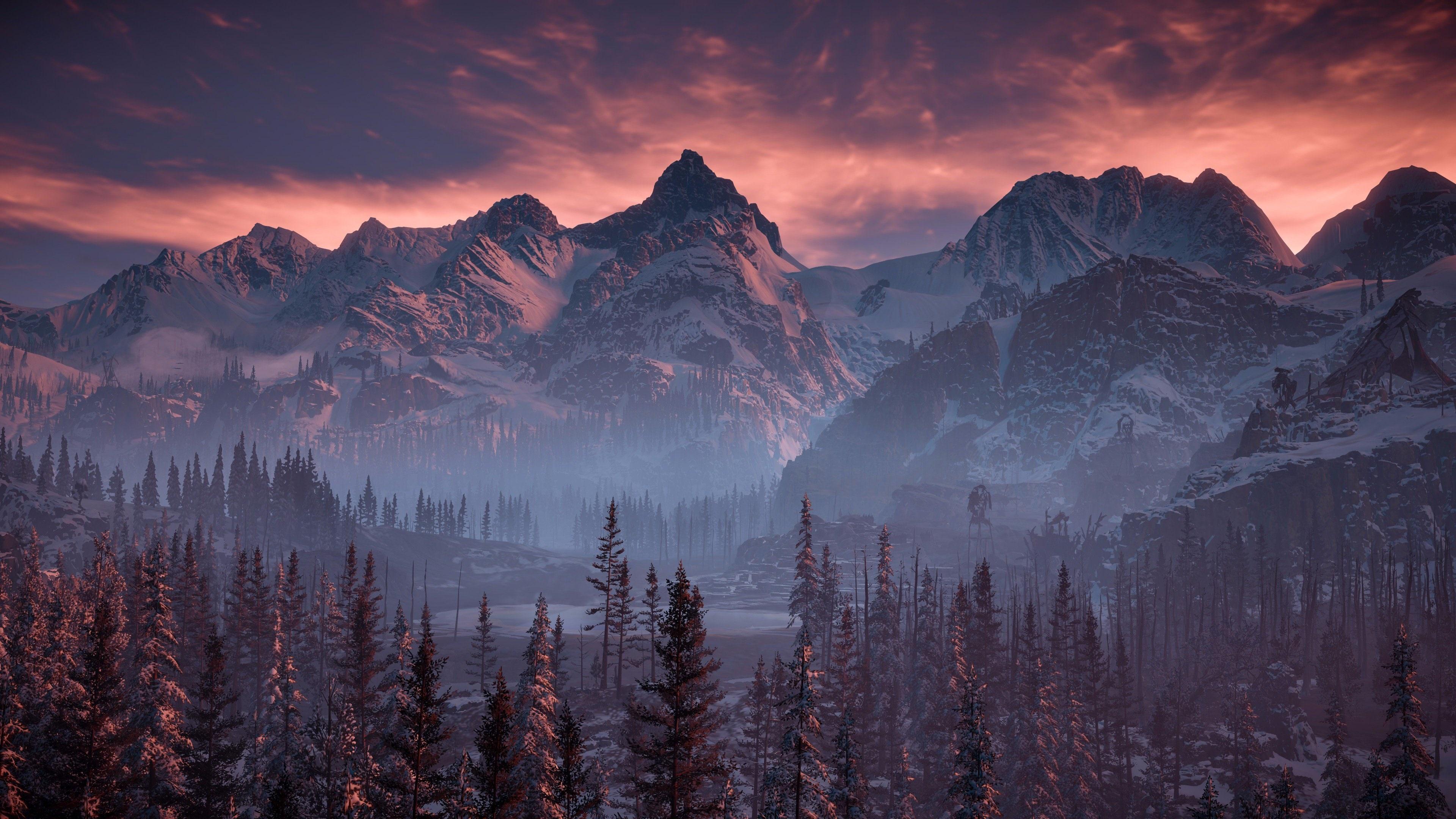 Horizon Zero Dawn Mountains , HD Wallpaper & Backgrounds
