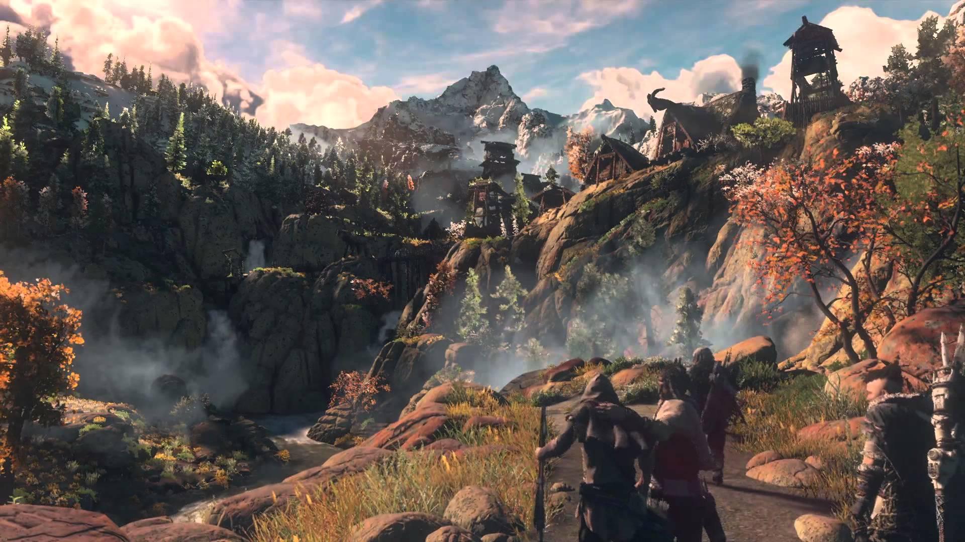 Best Horizon Zero Dawn Game Wallpapers - Horizon Zero Dawn Village , HD Wallpaper & Backgrounds