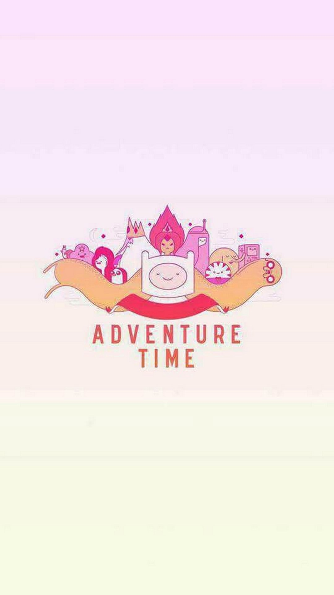 Iphone Wallpaper Adventure Time With High-resolution - Cute Adventure Time Background , HD Wallpaper & Backgrounds