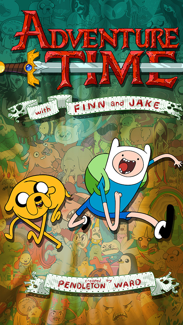 Adventure Time Iphone 5 Wallpapers Adventure Time Iphone - Adventure Time With Finn , HD Wallpaper & Backgrounds