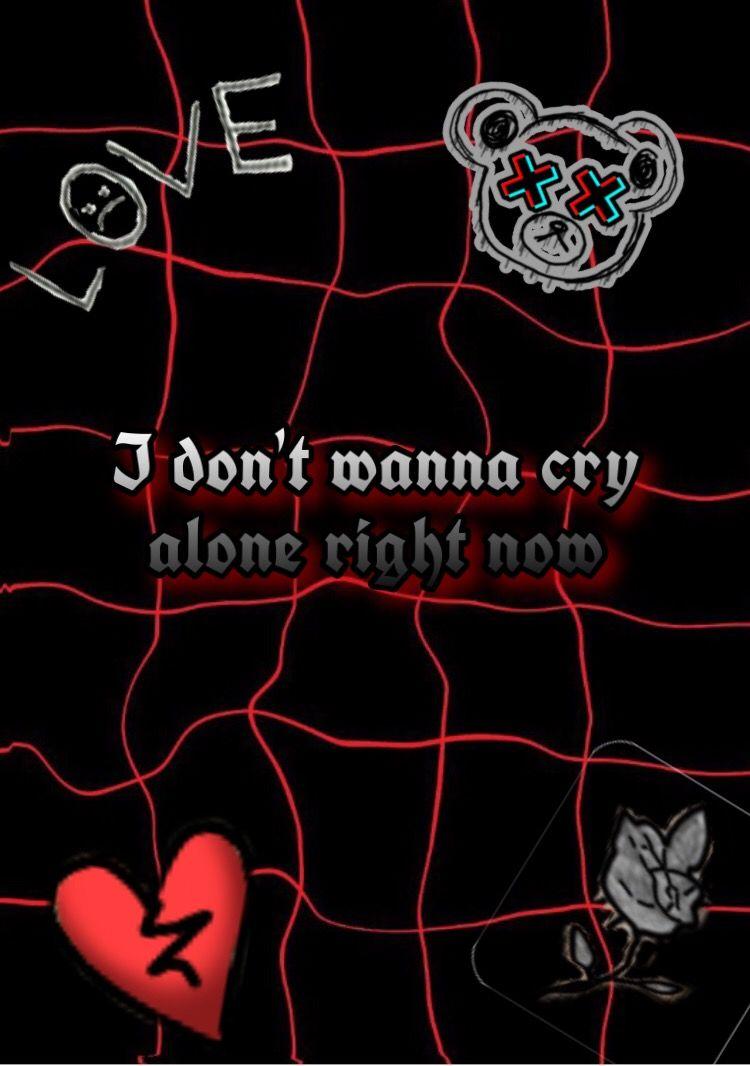 Lilpeep Wallpaper Cryalone Redandblack Sad Edgy