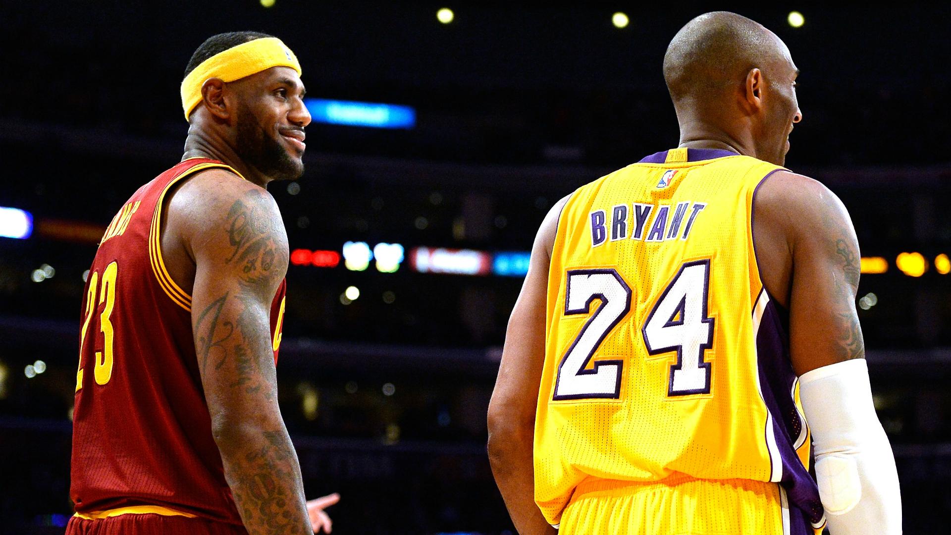 Lebron James Surpasses Kobe Bryant On Two Different - Lebron James Vs Kobe Bryant Hd , HD Wallpaper & Backgrounds